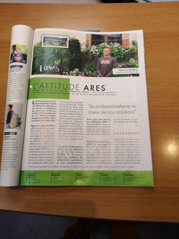 Article Vosges 100% - ARES - Vosges